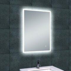 Douche Concurrent Badkamerspiegel Wiesbaden Quatro 70x50cm Geintegreerde LED Verlichting Verwarming Anti Condens Touch Lichtschakelaar Dimbaar
