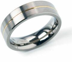 Boccia 0101-21 Ring titanium zilver- en goudkleurig 6 mm Maat 70