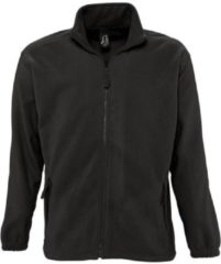 Zwarte Fleece Jack Sols NORTH POLAR MEN