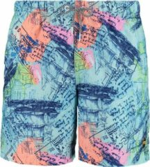 Blauwe Shiwi swim shorts sailing map - baia blue - M
