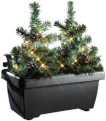 CHRISTMAXX LED-Tannenbäume 2in1, im Blumenkasten