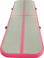 Dutchairtrack AirTrack Pro - Turnmat - Gymnastiek Roze| 300x100x10 CM | Sporten & Spelen | Buiten & Binnen | Waterproof | Met elektrische pomp