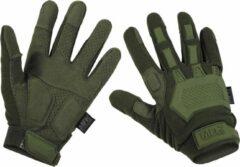 Donkergroene MFH Tactical handschoenen, 'Action' legergroen, MAAT XXL