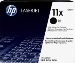 Zwarte HP Tonercassette HP Q6511X HP 11X