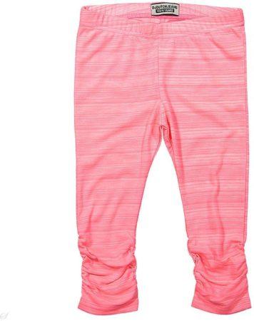 Afbeelding van Roze DJ Dutchjeans Legging Positive Vibes neon pink melange - Maat 92