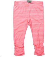 Roze DJ Dutchjeans Legging Positive Vibes neon pink melange - Maat 92