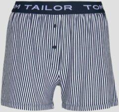 Blauwe TOM TAILOR Short met gestreepte Pyjama, blue stripes, 34