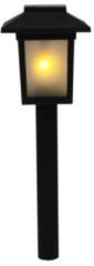 Zwarte Merkloos / Sans marque Tuinverlichting Solar- Tuin Decoratie- Solar Buitenverlichting- 1 stuk- 26 cm hoog