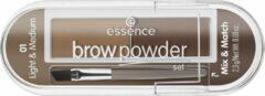 Essence - Brow Powder Set Is Eyebrow Styling From Brush 01 Light & Medium 2.3G