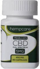 Hempcare - CBD capsules - Pearlcaps 5mg - CBD Full spectrum - 90 capsules
