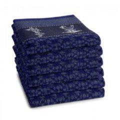 Blauwe DDDDD Haru - Keukendoek - 50x55 cm - Set van 6 - Indigo