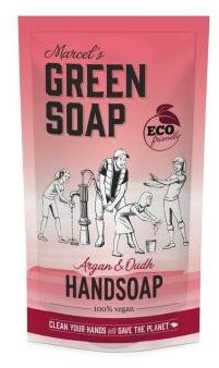 Afbeelding van Marcel's Green Soap Marcel's groen Soap Handzeep Argan&Oudh Navul Stazak 500 ml