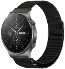 IMoshion Milanees Smartwatch Bandje voor de Huawei Watch GT 2,Huawei Watch GT 2 Pro,Huawei Watch GT 2e Sport 46 mm - Zwart