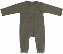 Kaki Baby's Only Boxpakje met voetjes Melange - Khaki - 50 - 100% ecologisch katoen - GOTS