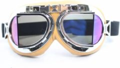 Creme witte CRG Creme pilotenbril multi kleur glas