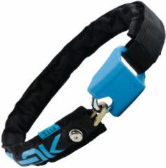 Hiplok - Lite Wearable 6mm Chain Lock - Fietsslot maat 75 cm, zwart/grijs/blauw