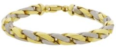 Christian Armband bicolor goud Wit Goud One size