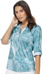 Groene Classic Inspirationen poloshirt met moderne batikprint