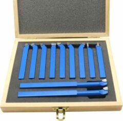 Blauwe Merkloos / Sans marque Beitelset - Beitelset 11 delig - 10 x 10 mm - Beitel