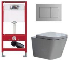 Douche Concurrent Tece Toiletset - Inbouw WC Hangtoilet wandcloset - Alexandria Tece Now Mat Chroom