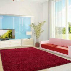 Life Hoogpolig Vloerkleed - Cannes - Rechthoek - Rood - 80 x 250 cm - Vintage, Patchwork, Scandinavisch & meer stijlen vind je op WoonQ.nl