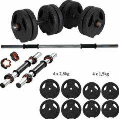 ECG Spor ECGSPOR Halterset / Dumbbell Set / Gewichten Set - 16 kg - Zwart