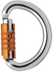 Petzl - Omni Triact-Lock - Vergrendelingskarabiner silber /oranje