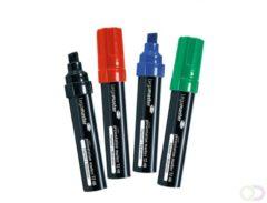 Legamaster JUMBO TZ 48 markeerstift 4 stuk(s) Zwart, Blauw, Groen, Rood Beitelvormige punt
