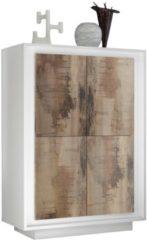Pesaro Mobilia Opbergkast SKY 146 cm hoog - Wit met eiken