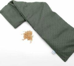 Pittenzak XL Met Pit! – Nek en schouders – Wasbare hoes – Pittenkussen met tarwe – Made in NL – Groen Stippen