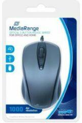 Grijze MediaRange MROS201 muis USB Type-A Optisch 1000 DPI Ambidextrous