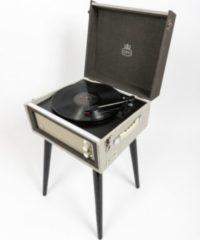 GPO Plattenspieler als Koffer oder stehend zu positionieren mit eingebauten Lautsprechern - grau