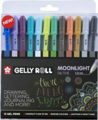 Sakura roller Gelly Roll Moonlight, etui van 12 stuks in geassorteerde kleuren