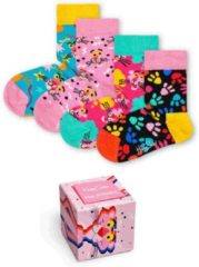 Rode Happy Socks Kids Pink Panther Limited Edition Giftbox - Maat 0-12 maanden