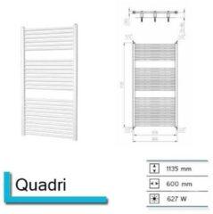 Schell Plieger Quadro designradiator horizontaal 1135x600mm 627W wit QUADRO
