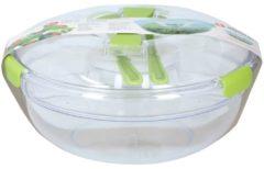 Alpina Kitchen & Home Alpina Saladeschaal 30 Cm Transparant/groen