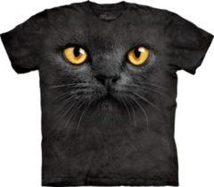 The Mountain T-shirt zwarte kat met gele ogen 2XL