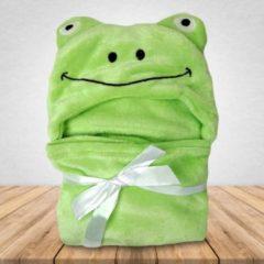 Groene Babydeken Kikker - Wikkeldeken & Badcape - 100 x 70 cm - Kraamcadeau - Comfy Capes