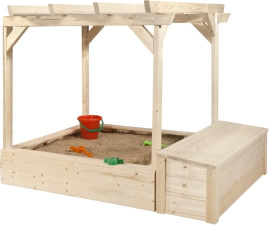 Afbeelding van Pergola met zandbak voor speelhuis Philipp