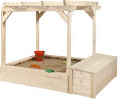 Pergola met zandbak voor speelhuis Philipp