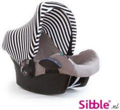 Witte Sibble Maxi-Cosi Zonnekap - Kapje Maxi-Cosi - Black&White Stripe