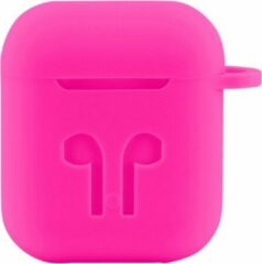 Case Cover Voor Apple Airpods - Siliconen Roze | Watchbands-shop.nl