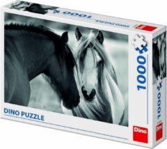 Dino Toys Puzzel Paarden Zwart-Wit - Legpuzzel van 1000 stukjes