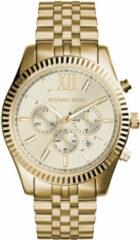 Michael Kors MK8281 Horloge Lexington chrono staal goudkleurig 45 mm