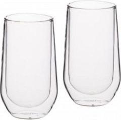 Transparante Set van 4 - Hoge Dubbelwandige Glazen - 380ml - KitchenCraft |Le'Xpress