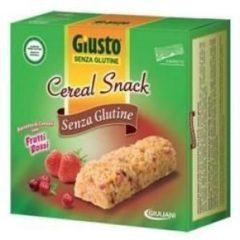 Giusto Senza Glutine Cereal Snack Barretta ai Frutti Rossi 6x25g