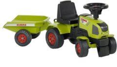 Groene Speelgoed tractorset Claas A x os 310 - Voor Kinderen - Met Aanhanger - Falk