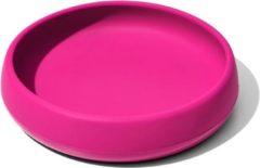OXO Tot Silicone bord Pink | Roze | Onbreekbaar | Verzwaarde bodem | Baby- en kinderservies