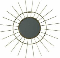 Housevitamin wandspiegel 'SUN' - spiegel goud metaal zon - 43cm diameter