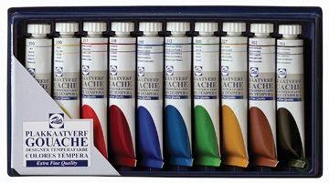 Afbeelding van Talens plakkaatverf Extra Fijn tube van 20 ml, doos met 10 tubes in geassorteerde kleuren